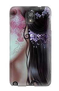 Heatffey Galaxy Note 3 Well-designed Hard Case Cover Girl With Face Tattoo Fantasy Abstract Fantasy Protector