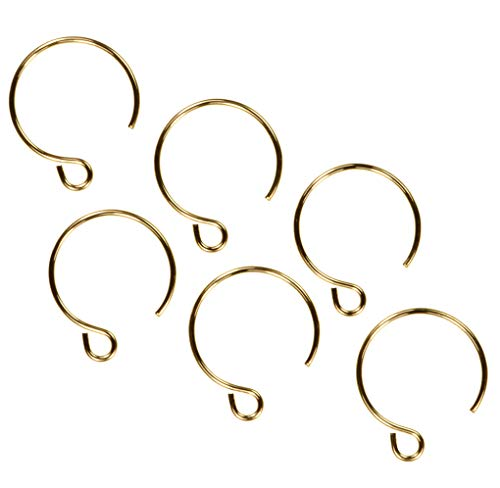 3 Pairs 14K Gold Filled 13mm Round Circle Ear Wires