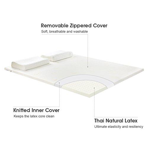 2 Quot Plush Latex Mattress Topper W Removable Bamboo Fabric