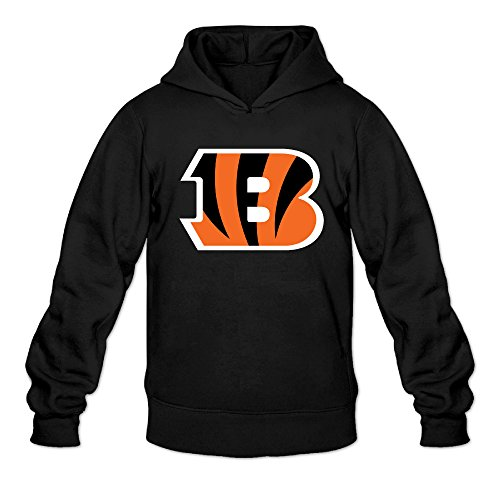 RABBEAT Men's Sweatshirt Bengal Tiger Logo Size L Black