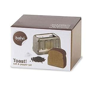 Salt & Pepper set, Toast Shape - Balvi