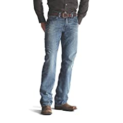 A modern take on a classic fit. Stylish, durable and comfortable denim, with a fashion boot-cut leg opening and a rise that sits just below the hips.