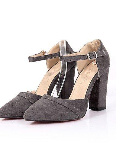 LFNLYX Zapatos de mujer-Tacón Robusto-Tacones / Comfort / Innovador / Pump Básico / Puntiagudos / Botas a la Moda / Zapatos y Bolsos a Juego- Red