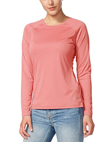 Baleaf Women's UPF 50+ Sun Protection Long Sleeve Outdoor Performance T-Shirt Pink Size (Easy Womens Pink T-shirt)