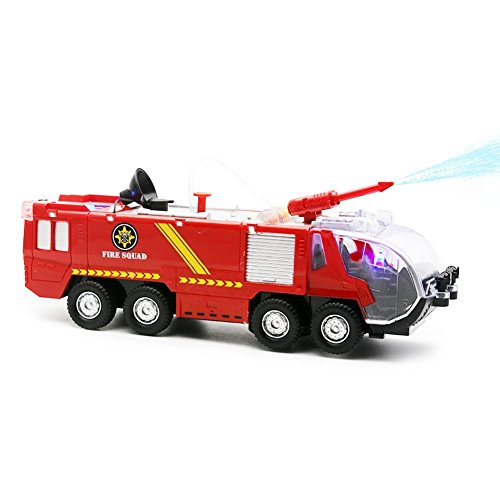 Bock Stoc Firetruck Toy Vehicle  Lights Sounds   Watergun Cannon