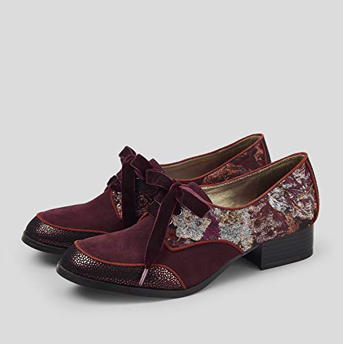 Bordeaux up Flat Women's Lace Shoes Shoo Micah Ruby pSw0In