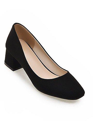 GGX/Damen Schuhe Fleece Sommer/quadratisch Fuß Heels Office & Karriere/Casual geschoben Ferse andere schwarz/grau/mandel black-us10.5 / eu42 / uk8.5 / cn43