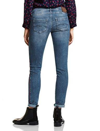 Jeans Blau brillant Slim 11553 Blue Random One Donna Bleach Street 5xSO1wq