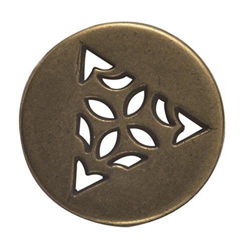 Celtic Triangle Button – Antique Brass Finish. 1