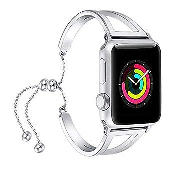 VELLAA para Apple Watch Correa para Relojes,Acero Inoxidable Pulseras de Repuesto Reemplazo Correo de Sport Banda para 38mm 42mm iWatch Serie 2/ Serie 1: ...