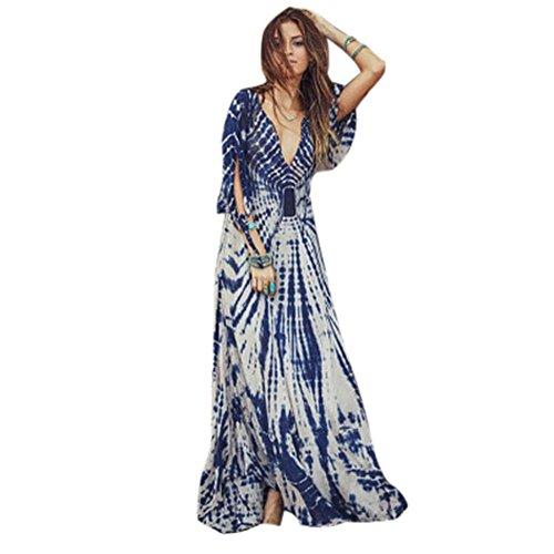 Culater® Femmes Sexy Cadrage Casual Maxi Robe Longue