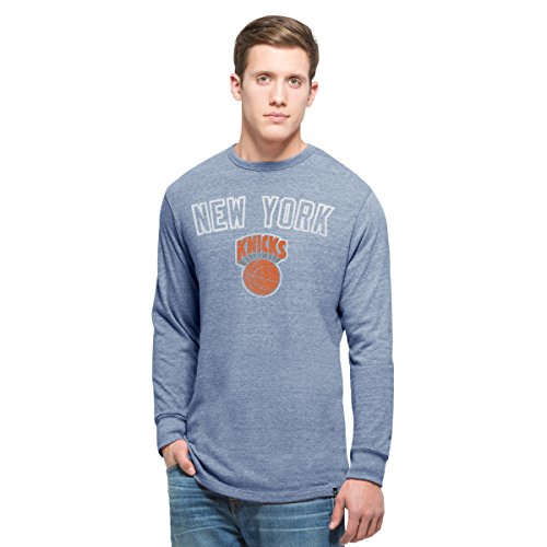 NBA New York Knicks Men's 47 Team Tri-State Long Sleeve Tee, Large, (New York Knicks Vintage T-shirt)