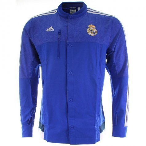 Adidas Real Madrid CF Anthem Jacket (BOBLUE/WHITE) (L)