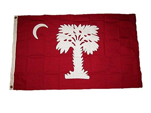 3x5 Embroidered Sewn South Carolina Big Red SC Cotton Flag 3