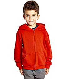 Kids Cotton Hoodie Red 5 Years