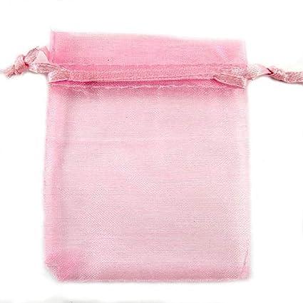 Amazon.com: Aaa - Bolsas de organza para boda con cordón de ...