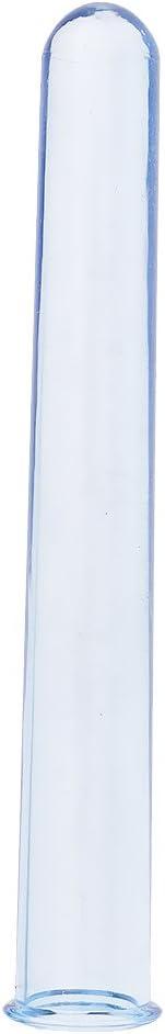 sharprepublic 3pcs Rundboden Kunststoff Reagenzglas Cocktailbar Liefert Kunststoffprodukte Bernstein 12cm