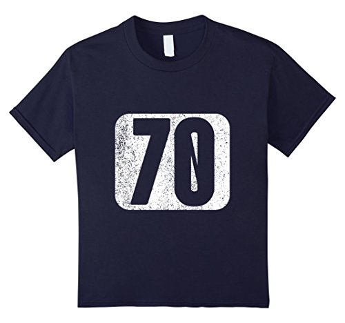Guys 70's Costume Ideas (Kids Number 70 T-shirt 70th Birthday 70th Anniversary shirt 12 Navy)