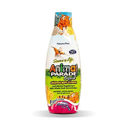 NaturesPlus Animal Parade Source of Life Children's Liquid Multivitamin (2 Pack) - Tropical Berry Flavor - 30 fl oz - Whole Food Supplement - Vegetarian, Gluten-Free - 120 Total Servings