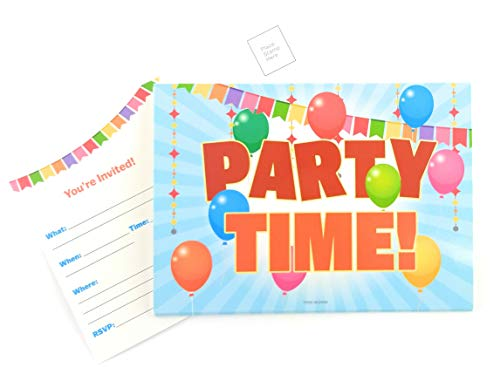 - Party Invitations Cards 25 Pieces - Fill in Party Invitations for Children, Kids, Teens & Adults, Summer Time Birthday Cookout Invitation Cards, Boys & Girls, Family Reunion BBQ Invites