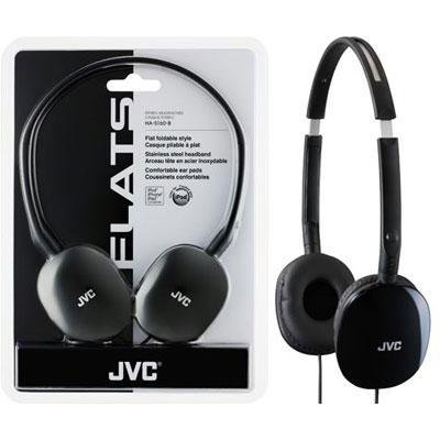 New Jvc America Flats portable Headphones Black 30mm Neodymium Driver Units Soft Ear-Pads