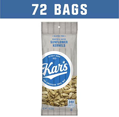 Kar's Nuts Sunflower Kernels Snacks - Bulk Pack of 2 oz Individual Single Serve Bags (72 Pack)