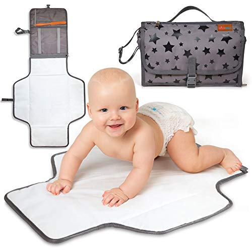 Portable Changing Pad | Travel Changing Pad for Diaper Duty - Baby Changing Pad Keeps Baby Safe - Portable Changing Mat When Out & About - Baby Changing Mat Portable - Diaper Bag Changing Pad