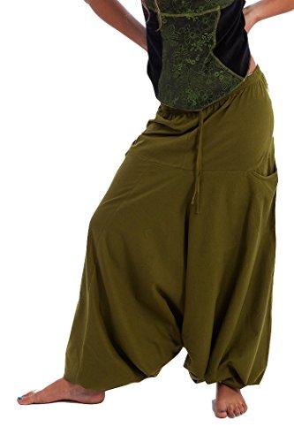 Pantalones de harén, pantalones de Aladdin, harén pantalones, pantalones de yoga, pantalones de Alibaba Verde