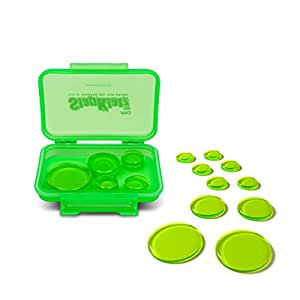 SlapKlatz Pro - Alien Green | Drum Mute Pads - Damper Gels for Drums in 3 different Sizes and with a FREE rugged case | Non-toxic