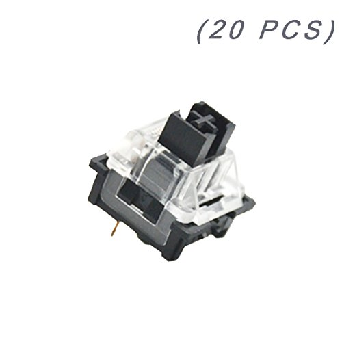- OUTEMU (Gaote) Black Switch 3 Pin Keyswitch DIY Replaceable Switches for Mechanical Gaming Keyboard (20 PCS)
