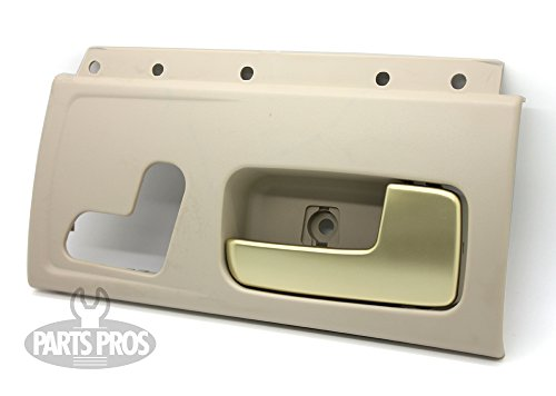 LatchWell PRO-4002342 Passenger Side Front Interior Door Handle in Tan & Gold for Lincoln Town Car