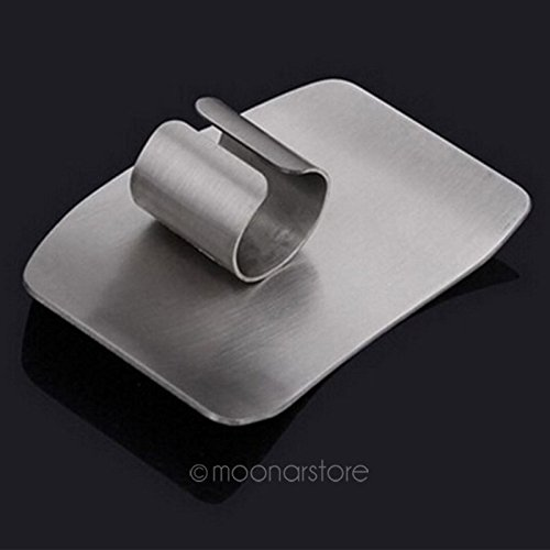 Stainless Steel Finger Protector Safe Slice Vegetable Guard Protect Hands Finger Protector Kitchen Gadget(6.35.0cm,Silver) by YOTHG (Image #5)