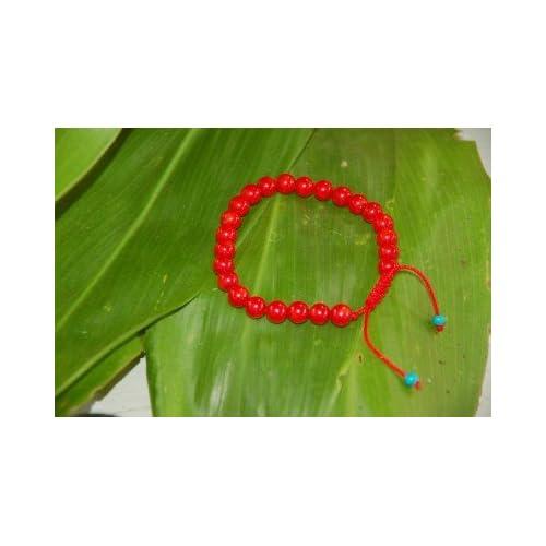 Red Coral Wrist Mala/ Bracelet for Meditation