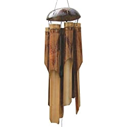 Cohasset Gifts Bamboo Wind Chimes | Large 45 inch | Natural Beautiful Sound | Wood Outdoor Home Decor | #145 Whisper