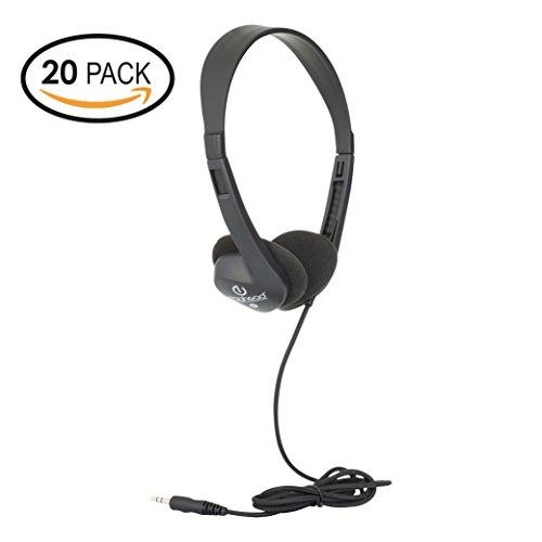 Egghead- 1000 Black Stereo Headphones (20 pack)