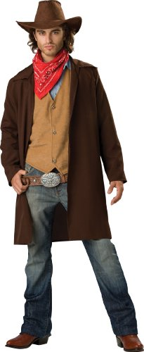 InCharacter Costumes Men's Rawhide Renegade Costume, Brown/Tan, Large