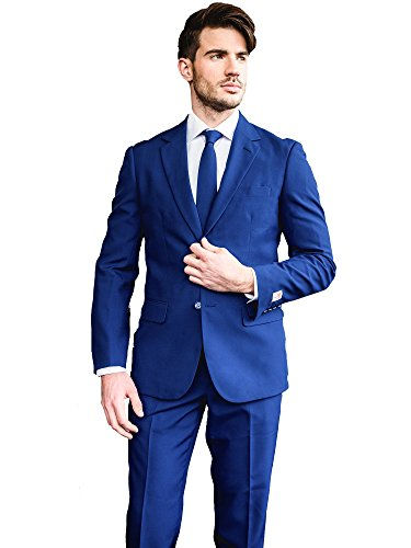 [OppoSuits Men's Royale-Party Costume Suit, Navy, 38] (Do It Yourself Costumes 2016)