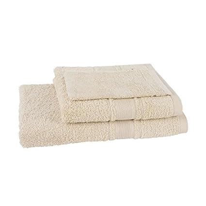 JULES CLARYSSE Lot de 1 serviette + 1 drap de bain + 1 gant de toilette