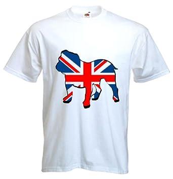 69feceb2 British Bulldog Union Jack Men's T-Shirt: Amazon.co.uk: Clothing