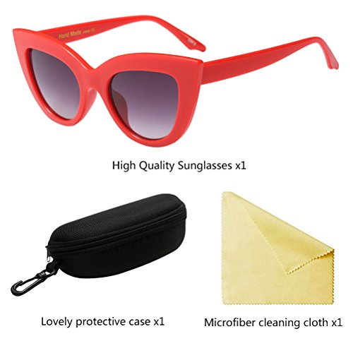Gafas Cat Retro Designer Zhhlaixing Mujeres Red Eyewear UV de Eye Protection Sol Eyeglasses 5wfTUqA