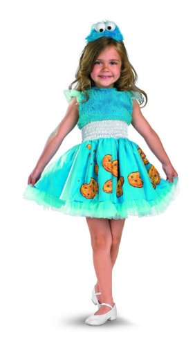 Frilly Cookie Monster Costume - Medium (Cookie Monster Halloween Costume For Girls)