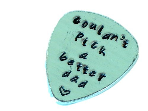 couldn't pick a better dad - Custom Guitar Pick - Customize your own Guitar Pick - Weathered Finish