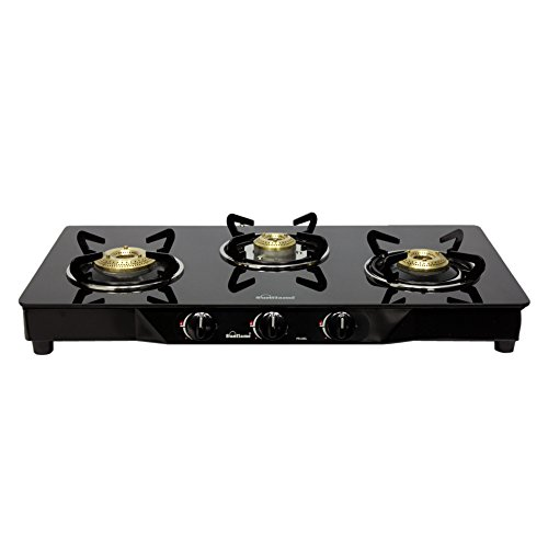Sunflame Classic 3B Burner Gas Stove, Black by Sunflame