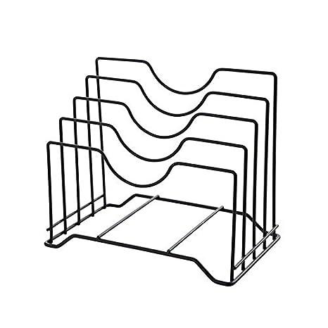 Estantes y soportes para ollas y sartenes 4-tier Pot Tapa Accesorio de soporte Metal Estante organizador para almacenamiento: Amazon.es: Hogar
