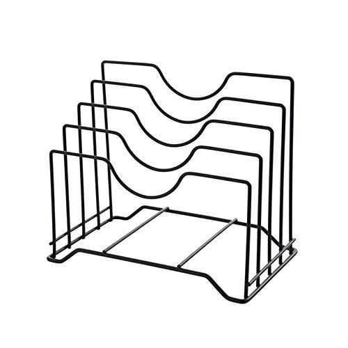 Estantes y soportes para ollas y sartenes 4-tier Pot Tapa Accesorio de soporte Metal Estante organizador para almacenamiento