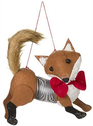 Sullivans Slinky Fox Ornament, 7""