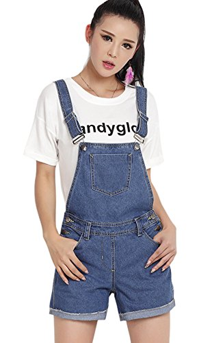 chouyatou Womens Classic Distressed Overalls product image