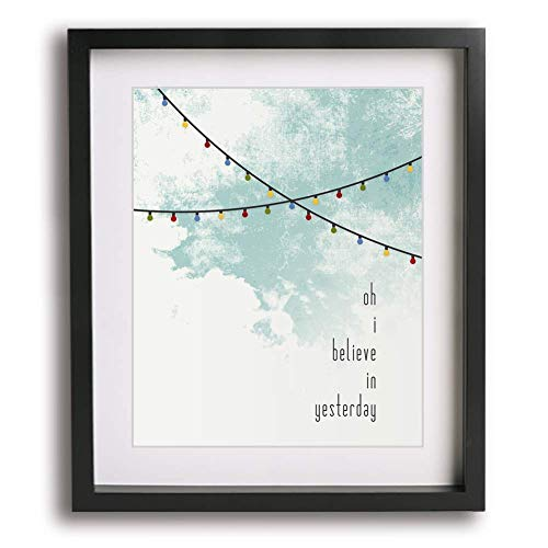 Yesterday | The Beatles inspired song lyric art print - romantic wedding or first paper anniversary gift idea