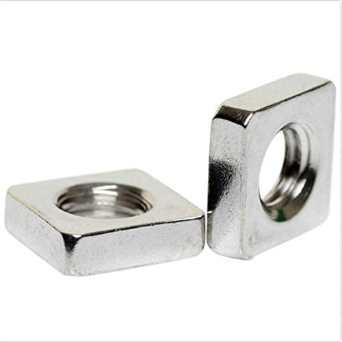 Amazon.com: YUNSHUO 100pack M3 M4 M5 M6 M8 A2 Stainless Steel Square Thin Nuts DIN 562 M3x5.4x1.8: Home Improvement