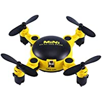 Awaytoy 2.7 RC FPV Foldable Mini Drone with WIFI Camera 2.4GHz RC 6-Axis Gyro UFO Yellow